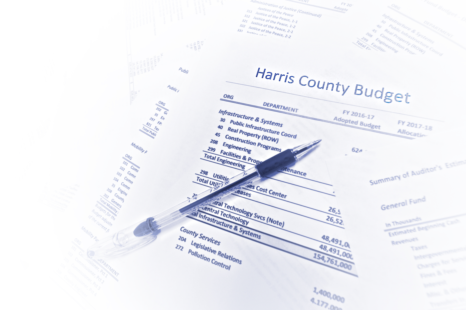 Image of budget papers